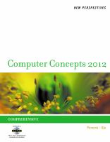 Cover image for New perspectives on computer concepts 2012, comprehensive