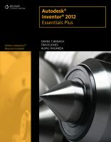 Cover image for Autodesk inventor 2012 essentials plus