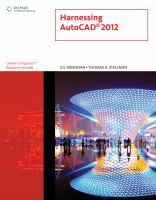Cover image for Harnessing AutoCAD 2012