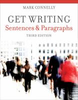 Cover image for Get writing : sentences and paragraphs