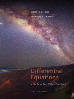 Cover image for Differential equations with boundary-value problems