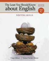 Cover image for The Least you should know about english : writing skills : form C
