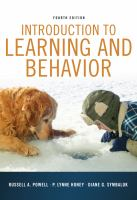 Cover image for Introduction to learning and behavior