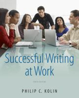Cover image for Successful writing at work