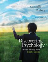 Cover image for Discovering psychology : the science of mind, briefer version