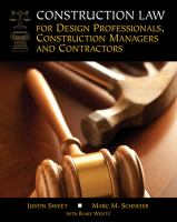 Cover image for Construction law for design professionals, construction managers, and contractors