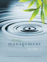 Cover image for Stress management for life : a research-based, experiential approach