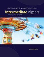 Cover image for Intermediate algebra : everyday explorations
