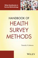 Cover image for Handbook of health survey methods