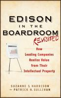 Cover image for Edison in the boardroom : how leading companies realize value from their intellectual property