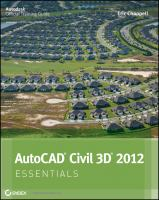 Cover image for AutoCAD civil 3D essentials : Autodesk official training guide