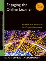Cover image for Engaging the online learner : activities and resources for creative instruction