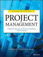 Cover image for Project management : a systems approach to planning, scheduling, and controlling