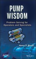 Cover image for Pump wisdom : problem solving for operators and specialists