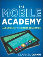 Cover image for The mobile academy : mLearning for higher education