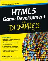 Cover image for HTML5 game development for dummies