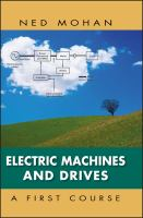 Cover image for Electric machines and drives : a first course