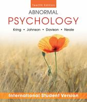 Cover image for Abnormal psychology