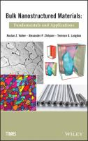 Cover image for Bulk nanostructured materials : fundamentals and applications