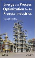 Cover image for Energy and process optimization for the process industries