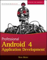 Cover image for Professional Android 4 application development