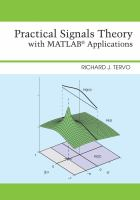 Cover image for Practical signals theory with MATLAB R applications