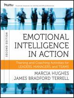 Cover image for Emotional intelligence in action : training and coaching activities for leaders, managers, and teams