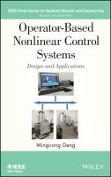 Cover image for Operator-based nonlinear control systems design and applications