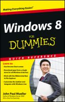 Cover image for Windows 8 for dummies quick reference