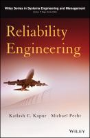 Cover image for Reliability engineering