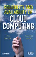 Cover image for Reliability and availability of cloud computing