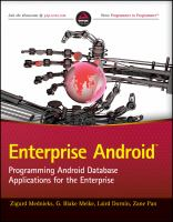 Cover image for Enterprise android : programming android database applications for the enterprise