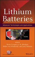 Cover image for Lithium batteries : advanced technologies and applications