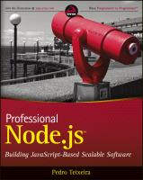 Cover image for Professional node.js : building javascript-based scalable software