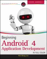 Cover image for Beginning android 4 application development