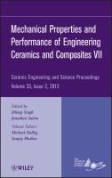 Cover image for Mechanical properties and performance of engineering ceramics and composites VII