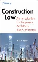 Cover image for The construction law : an introduction for engineers, architects, and contractors