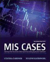 Cover image for MIS cases : solving small business scenarios using application software