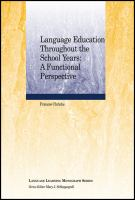 Cover image for Language education throughout the school years : a functional perspective
