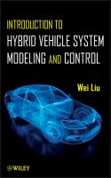 Cover image for Introduction to hybrid vehicle system modeling and control