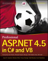 Cover image for Professional ASP.NET 4.5 in C# and VB