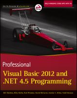 Cover image for Professional Visual Basic 2012 and .NET 4.5 programming