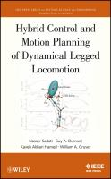 Cover image for Hybrid control and motion planning of dynamical legged locomotion