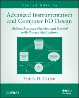 Cover image for Advanced instrumentation and computer I/O design : defined accuracy decision and control with process applications