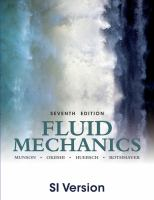 Cover image for Fluid mechanics : SI version