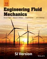 Cover image for Engineering fluid mechanics : SI version