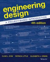 Cover image for Engineering design : a project-based introduction