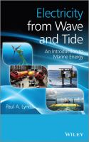 Cover image for Electricity from wave and tide : an introduction to marine energy