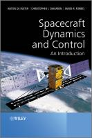 Cover image for Spacecraft dynamics and control : an introduction
