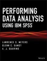 Cover image for Performing data analysis using IBM SPSS(R)